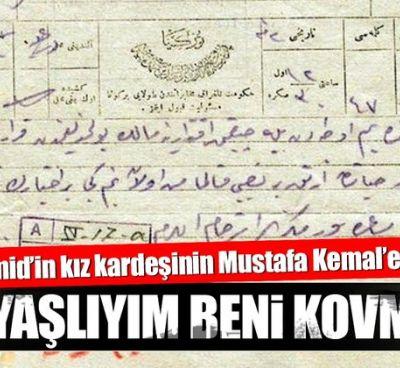 Abdülhamid'in kız kardeşinin Mustafa Kemal'e mektubu