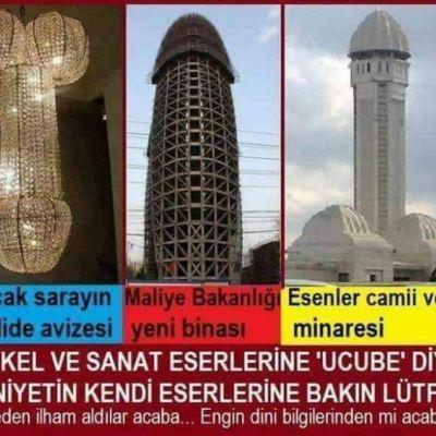 Esenler camii - Maliye bakanlığı binası - Saray avizeleri [ Yalan bir haber ]