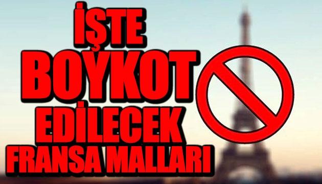 Fransız Malları Boykot listesi - Produits français